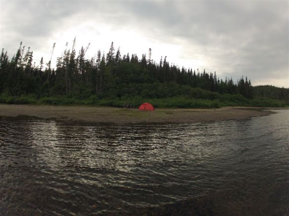 My campsite on Georges Lake.